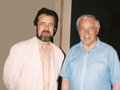 Konstantin Vilensky and Pierre Boulez, Paris, 1999