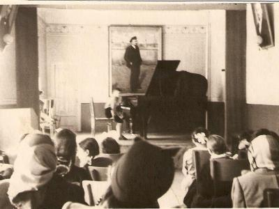 First performance, Rovno, Ukraine, 1956