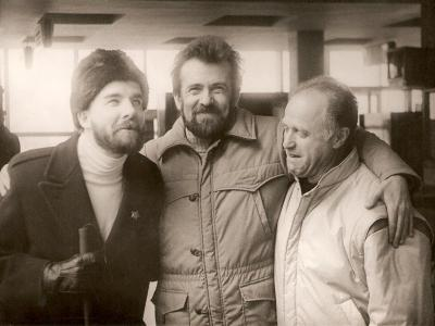 "Brooks Kerr (pianist, USA), K. Vilensky, Leonid Golshtein, Air-port ""Borispol"", 1988"