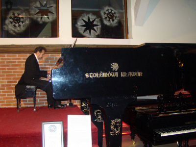 The biggest piano in the world (Szymbark,Poland), 2012