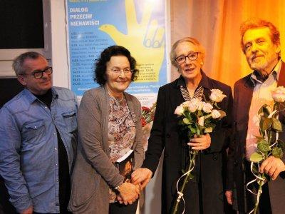 With Maja Komorowska (Kielce, 2019)