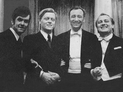 K. Wileński, Michaił Sieczkin, Rodion Szczedrin, Stefan Turczak Sala Kolumnowa Filharmonii Narodowej, Kijów, 1974