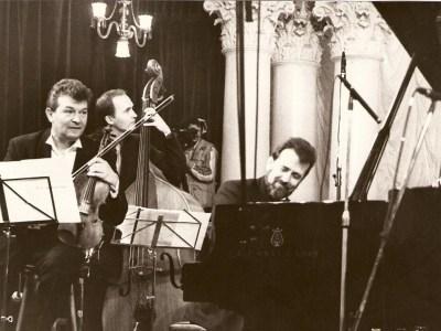 Vadim Brodski, Tomasz Kupiec, Konstanty Wileński -  na koncercie w Filharmonii Narodowej, Kijów, 10.12.99