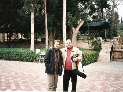 """K. Wileński, A. Kogan, po koncercie w """"LATRUN"""", Izrael, 2005"""