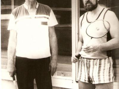 Z rosyjskim aktorem Sergiejem Jakowlewym (Dom twórczości kompozytorów, Jurmała, rok 1990)
