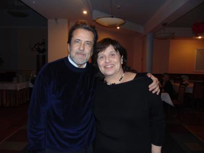 Konstanty Wileński i profesor fortepianu Dina Yoffe na X Międzynarodowym Forum Pianistycznym, Sanok, 2015 r.
