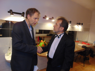 Kevin Kenner (USA) gratuluje Konstantemu Wileńskiemu