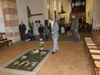 Grób Bacha w kościele Św. Tomasza, Lipsk, 2018
