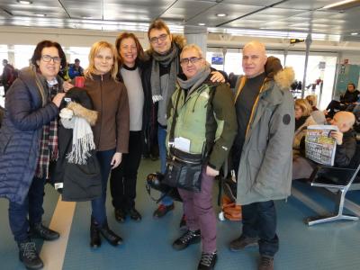 Nasza  Polsko-Włosko-Szwedzka grupa po Festiwalu Nocy Polarnej w Gallivare (Szwecja, 2019)
