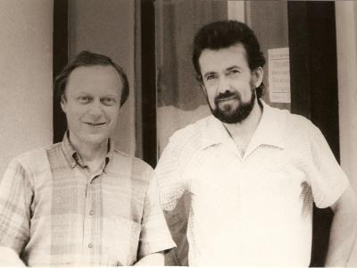 Леонид Чижик и Константин Виленский, Москва, 1988