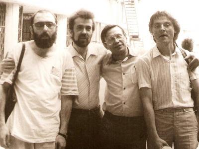 С московскими музыкантами на 11- ом Московском Международном Джазовом Фестивале, Москва, 1988