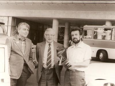 Композиторы Ким Назаретов, Юрий Саульский, К.Виленский, Москва, 1988