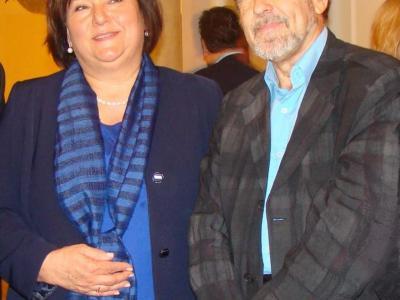 С Первой Леди Польши Анной Коморовской после концерта в Национальной Филармонии, Варшава, 2013