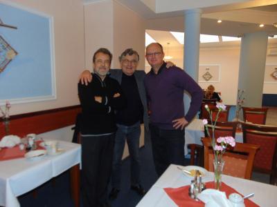 Константин Виленский, Евгений Индич (США, Франция), Мартин Джепсон (Дания).  XI Международный форум пианистов, Санок, 2016