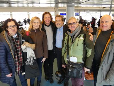 Наша польско-шведско-итальянская группа после «Фестиваля полярной ночи» в Галливарэ (Швеция, 2019)